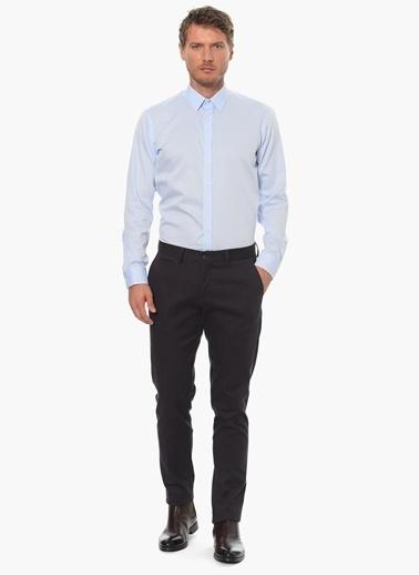 Network Slim Fit Uzun Kollu Gömlek Mavi